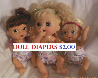 Doll bib OR FREE  doll bib-spoon when buy any 6 cloth doll diapers luvabella bitty baby baby alive get better bailey sips cuddles luvabeau