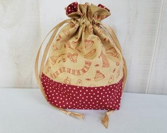 Sock Project Bag: Vintage Knitting