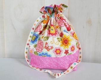 Sock Project Bag: Retro Floral