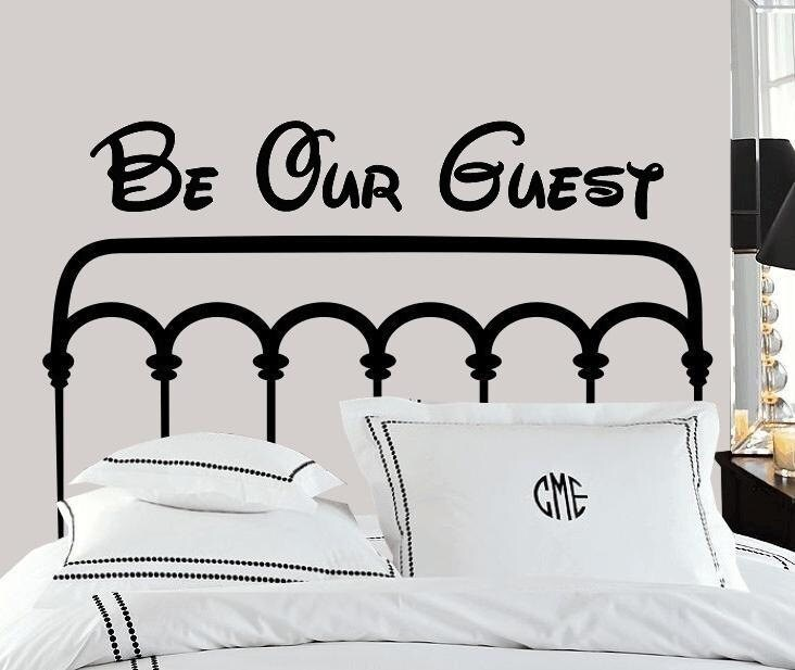wall decal be our guest vinyl letters guest room bedroom | etsy