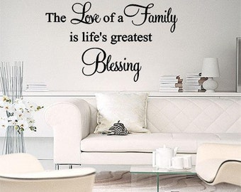 The Love Of A Family Blessing Wall Lettering Vinyl Art