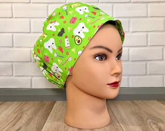Dental Print Scrub Hats