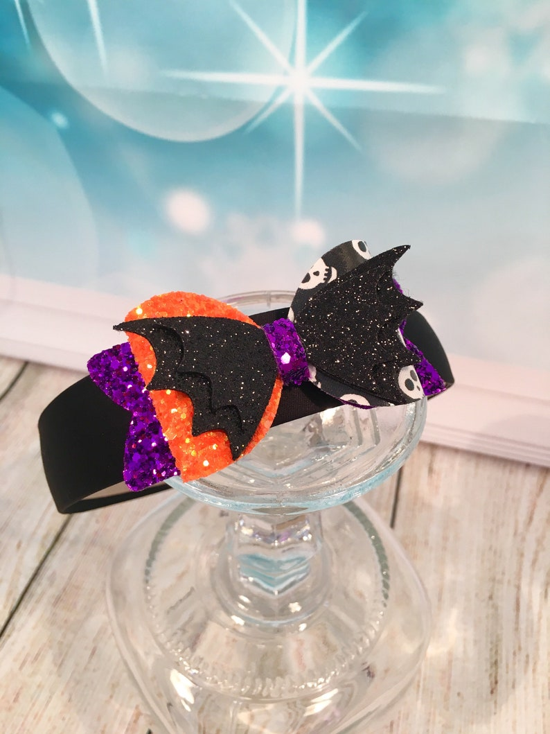 Halloween-Headband-Accessorie-Gift-Present-Spooky-Party-Bow-Ha image 0