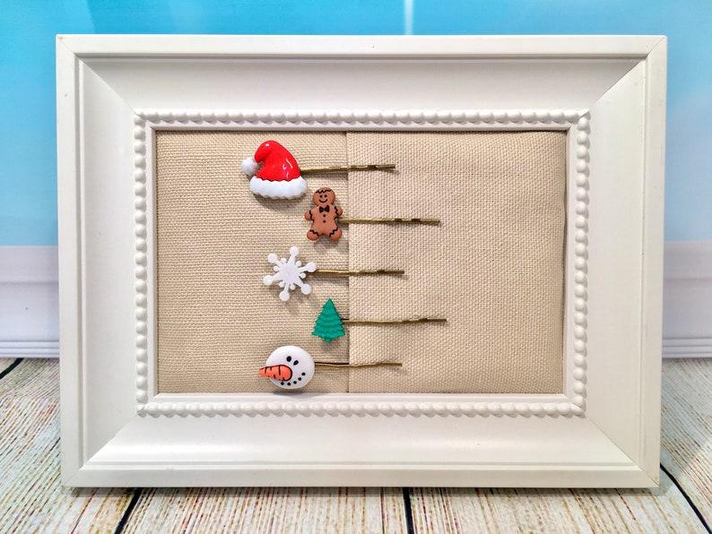 Set of 5-Christmas-Hair Bobby Pins-Accesories-Santa-Christmas image 0