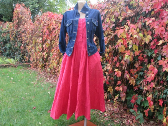 Cotton Dress / Dress Vintage / Pink Cotton Dress … - image 2