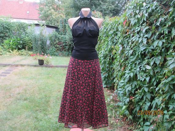 Long Skirt / Skirt Vintage / Full Skirt / Long Ski