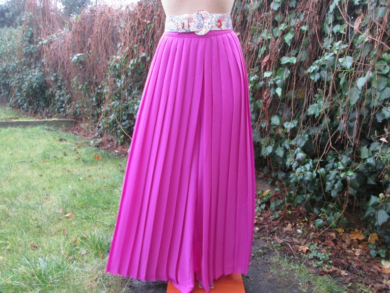 f4a4d880d1 PLEATED SKIRT PANTS / 2 in 1 / Long / Maxi / Size EUR36 / 38 / | Etsy