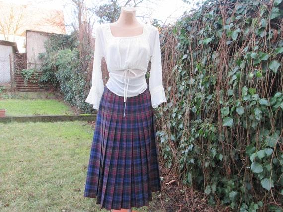 Wool Pleated Skirt / Woolen Pleated Skirt / Pleat… - image 2