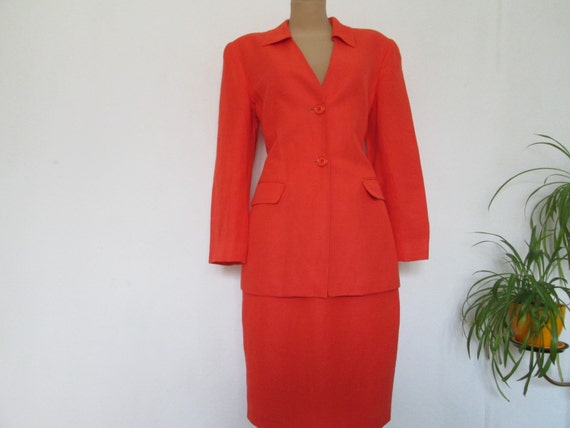 Skirt Suit Vintage / 2 Piece Skirt Suit / Skirt an
