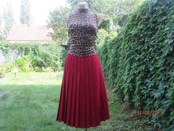 Woolen Pleated Skirt / Skirt Vintage / Wool Skirt