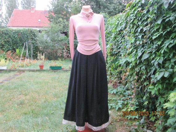 Linen Skirt Pockets / Skirt Vintage /  long Linen