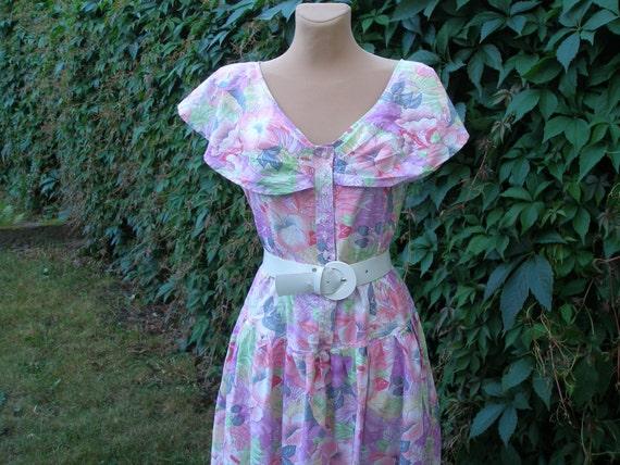 Cotton Dress / Dress Vintage / EUR44 / UK16 / Pock