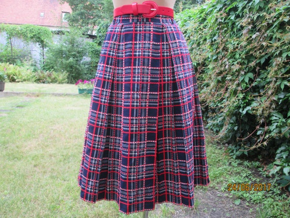 Woolen Pleated Skirt / Wool Pleated Skirt / Pleate