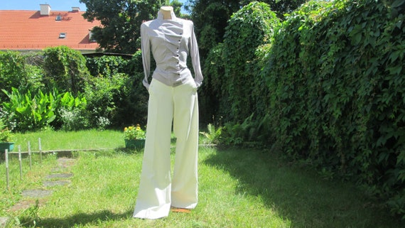 Womens White Pants / White pants Pockets / White T