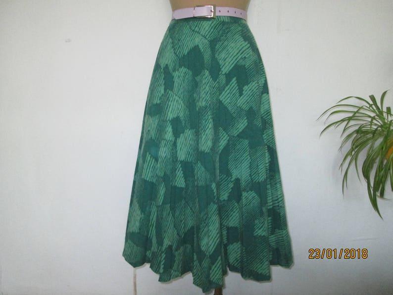 Wool Skirt  Circle Skirt  Skirt Vintage  Wool  Poly  Size EUR40  42  UK12  14  High Waisted Skirt  Green Wool Skirt