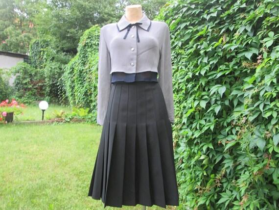 Woolen Skirt / Wool Pleated Skirt / Pleated Skirt