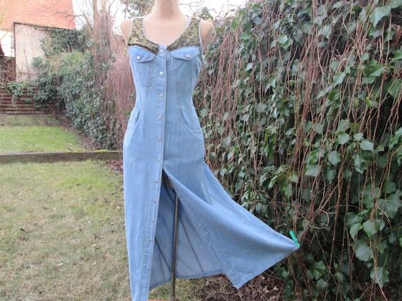Long Dress / Jeans Dress / Dress Vintage / Hippie