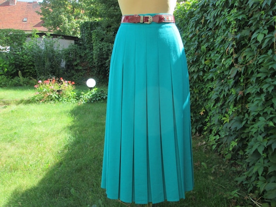 Pleated Skirt / Pleated Skirts / Green Pleated Ski