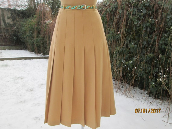 Wool Pleated Skirt / Woolen Skirt / Pleated Skirt