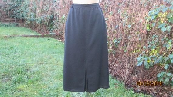 Woolen Skirt Pockets / Skirt Vintage / Slits / Bl… - image 2