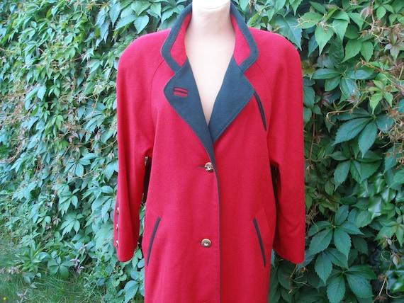 Soft Woolen Coat / Womens Wool Coat /  Coat Vintag