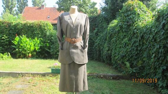 Woolen Skirt Suit / 2 PC Skirt Suit / Wool Skirt S