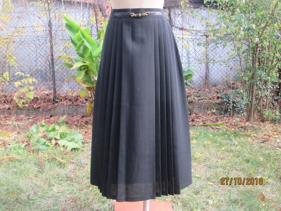 Pleated Wool Skirt / Wool Skirt / Woolen Skirt/ Sk
