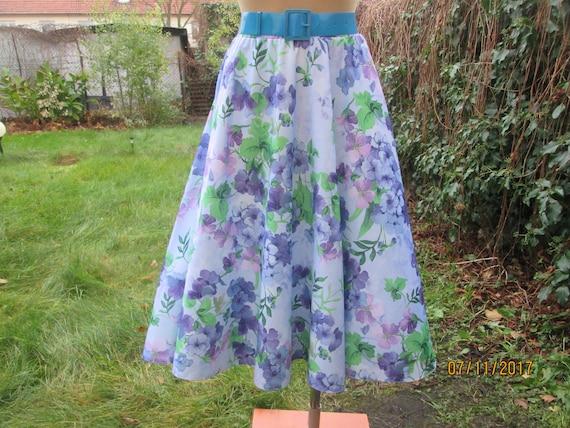 Circle Skirt / Skirt Vintage / Circle Skirts / Vio