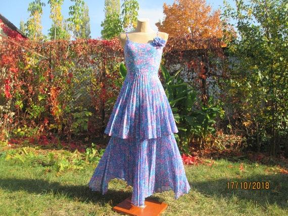 Pleated Circle Dress / Long Dress / Floor Length /