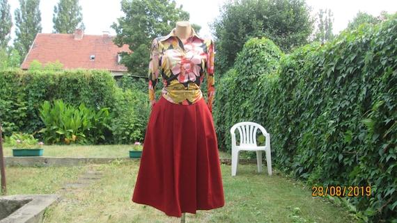 Wool Skirt Pockets / Warmer Skirt / Skirt Vintage