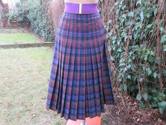 Wool Pleated Skirt / Woolen Pleated Skirt / Pleate