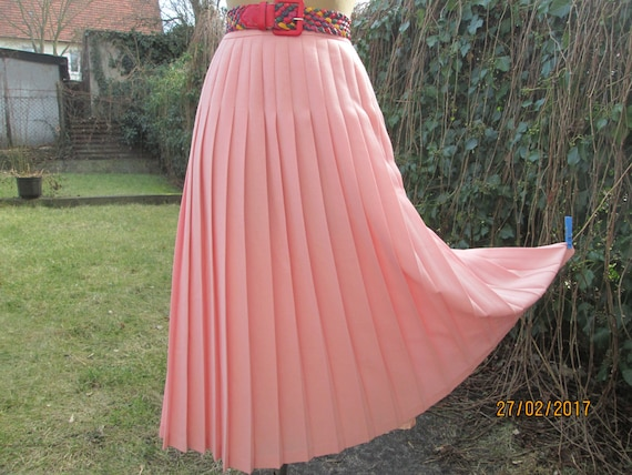 Pleated Wool Skirt  / Pleated Skirt / Long Pleated