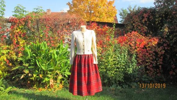 Woolen Skirt / Skirt Vintage / Checkered Skirt / … - image 1