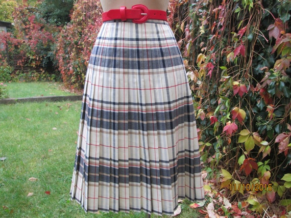 Woolen Pleated Skirt / Pleated Skirts / Wool Skirt