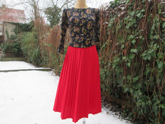 Wool Wrap Pleated Skirt /Pleated Skirts / Woolen S