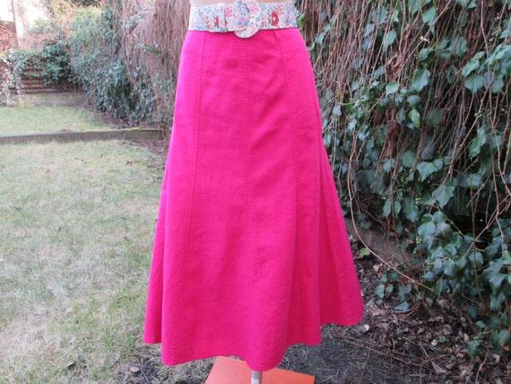 Linen Skirt / Skirt Vintage / Size EUR38 / UK10 /