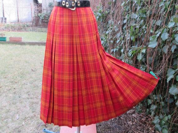 Wool Pleated Skirt / Woolen Skirt / Skirt Vintage