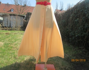 Long Buttoned Skirt / Skirt Vintage / Size EUR 42 / UK14 / Salmon/ Pink / Buttoned Skirts / A Line Skirt