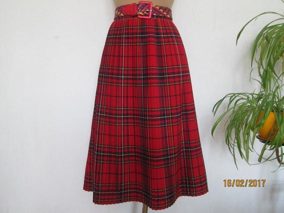 Woolen Pleated Skirt / Pleated Skirt / Pleated Ski
