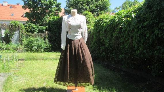 Long Brown Skirt / Skirt Vintage / Brown Skirt Poc