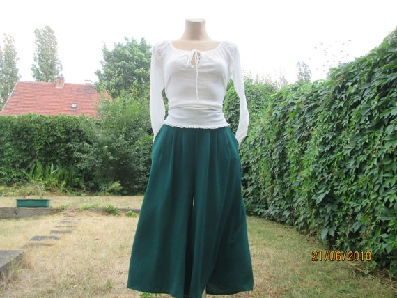 Skort Skirt Shorts / Shorts Pockets / Green Shorts