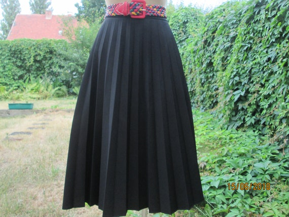 Pleated Skirt / Circle Pleated Skirt / Skirt Vinta