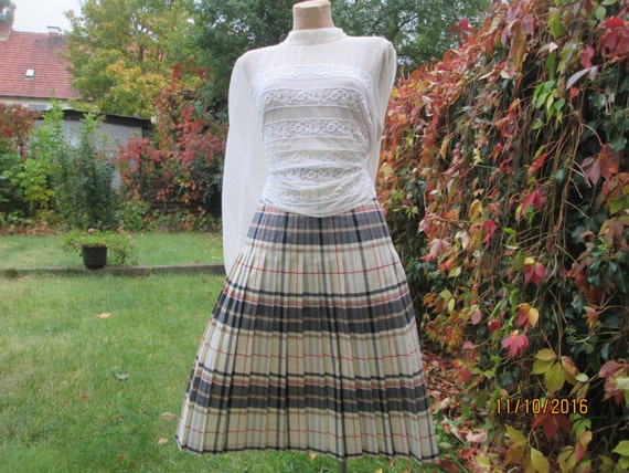 Woolen Pleated Skirt / Pleated Skirts / Wool Skir… - image 2