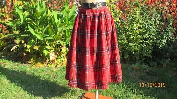 Woolen Skirt / Skirt Vintage / Checkered Skirt / … - image 4