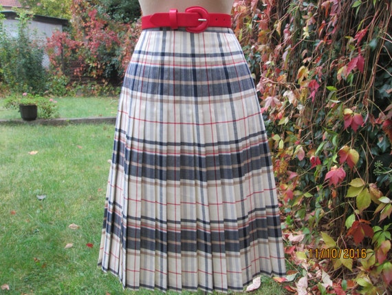 Woolen Pleated Skirt / Pleated Skirts / Wool Skir… - image 3
