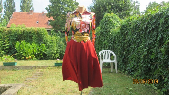Wool Skirt Pockets / Woolen Skirt / Skirt Vintage