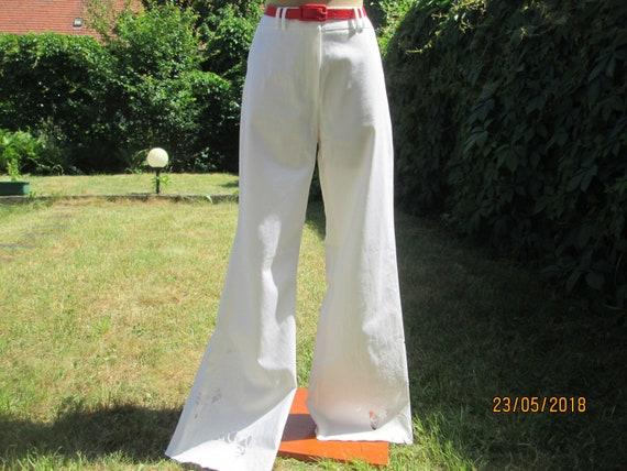 Womens Cotton Pants / White Cotton Pants / Cotton