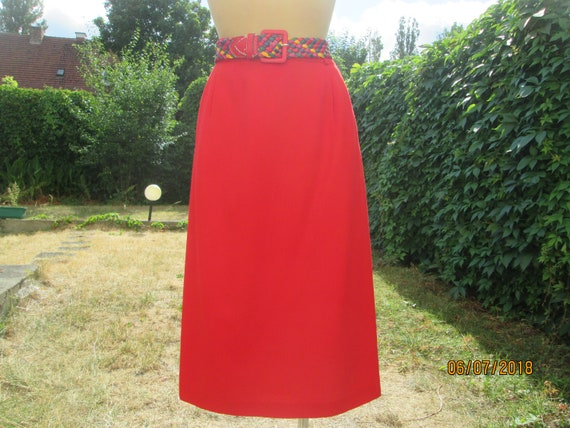 Pencil Wool Skirt / Skirt Vintage / Wool with Poly