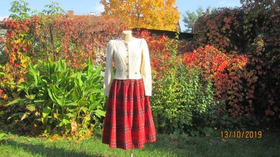 Woolen Skirt / Skirt Vintage / Checkered Skirt / … - image 9