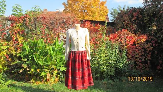 Woolen Skirt / Skirt Vintage / Checkered Skirt / … - image 8